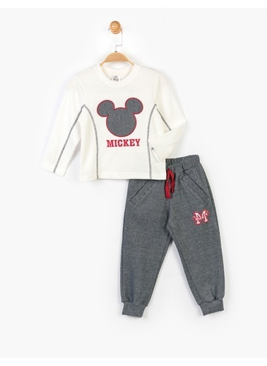 Mickey Mouse 2 li Takım Ekru